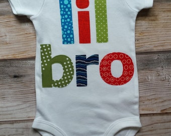 Lil Bro Bodysuit-Little Brother-Baby Brother Shirt-New Baby Boy-Little Brother Onesie-Lil Bro Onesie-Lil Bro Shirt-Little Brother Bodysuit