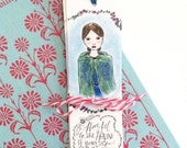Literary bookmark set - illustrated - bookmarks - colorful