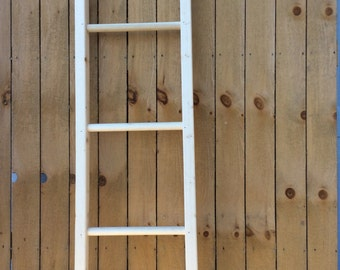 Unpainted decorative wooden ladders. Paint your own special color to accent your decor. Add some fun and whimsy to life.