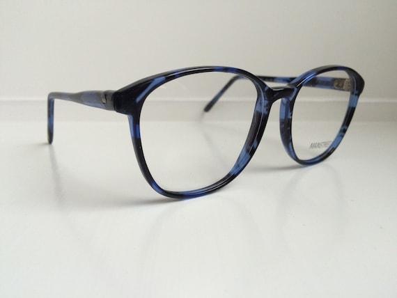 Vintage Eyeglass Frames Oversized Blue Black Glasses Frames