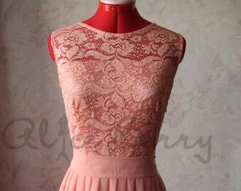Soft peach bridesmaid dress Peach lace bridesmaid dress Peach prom dress Light peach bridesmaid dress Soft peach dress women Peach wedding