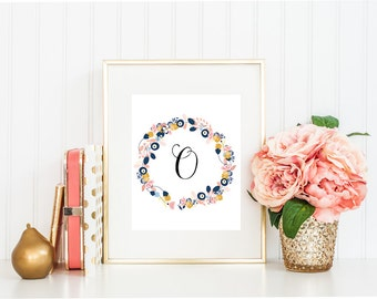 Letter O Wall Art Classy Letter A Print  Etsy Inspiration