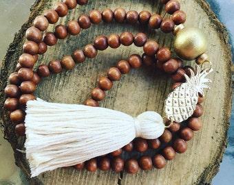 Pineapple Tassel Necklace