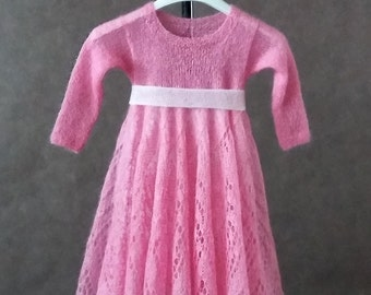 Mohair lace girl dress