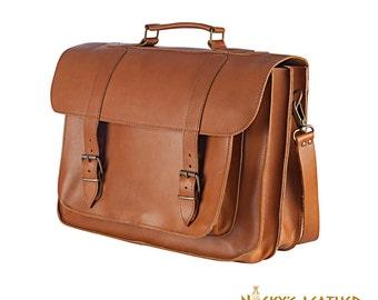 LEATHER MESSENGER BAG from 100 % Full Grain Leather Handmade