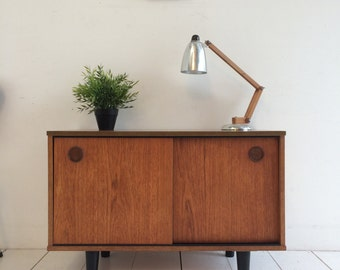 Vintage Teak Sideboard / TV Media Cabinet 1960s - Danish Influence Retro