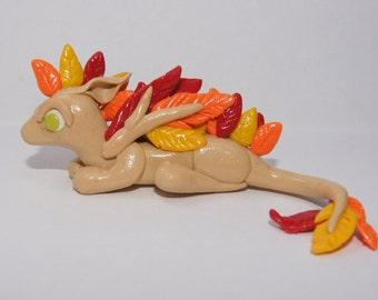 Autumn Polymer Clay Dragon
