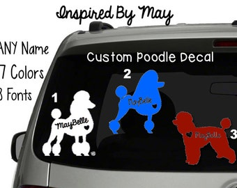 Poodle Custom Decal - YOUR CHOICE
