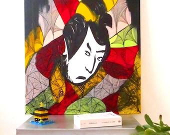 Samurai - Japan  (portrait ; painting ; canvas)