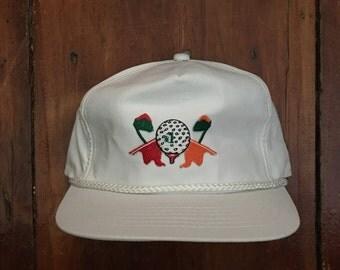 Vintage Golf Trucker Hat Snapback Baseball Cap Patch