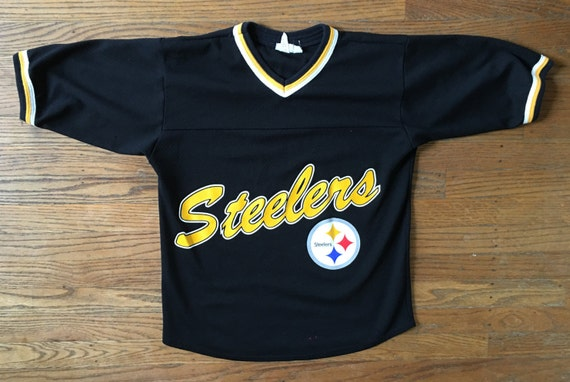 50%OFF 90s Vintage Pittsburgh Steelers Baseball Jersey MLB by KapKingdom 23578bf96