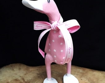 Pink Spotted Wooden Duck