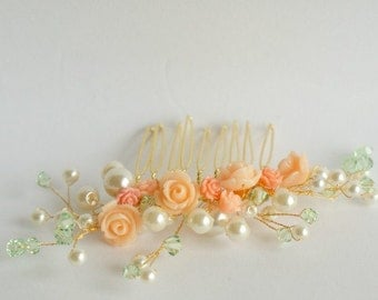 Hair comb for bride or bridesmaid