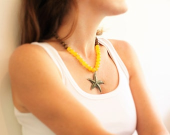 Starfish pendant, Starfish jewelry, Starfish necklace, Ocean necklace, Beach jewelry, Nautical pendant necklace