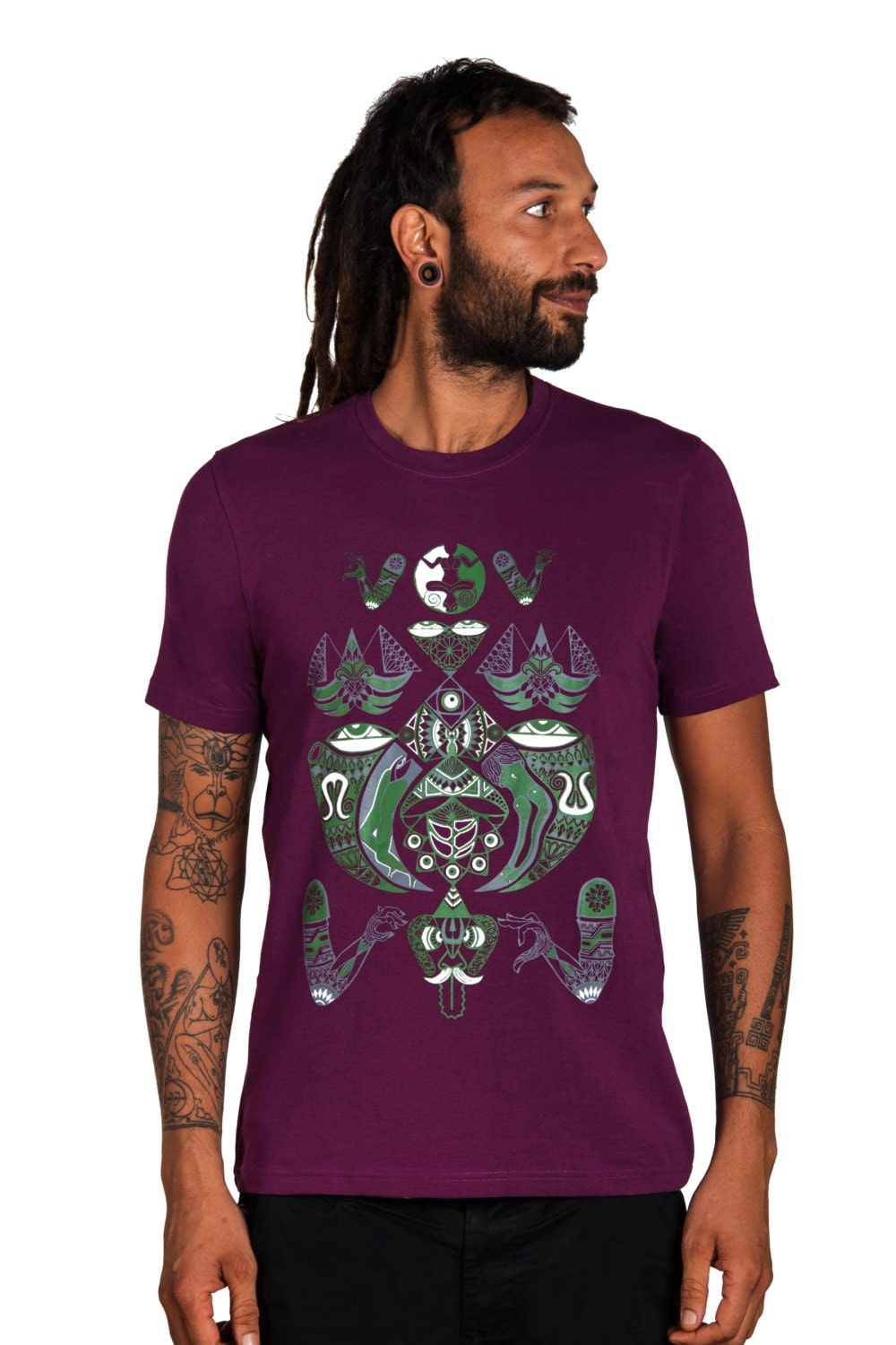 mens psychedelic t shirt trance clothing ayahuasca t