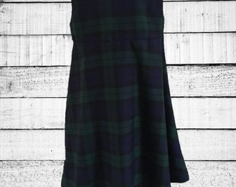 Girls Black Watch Tartan Dress