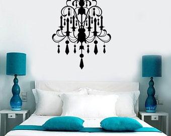 Wall Vinyl Decal Chandelier Amazing Modern Decor For Living Room Bedroom 1294dz