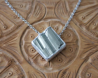 Sterling Silver Raw Pyrite Necklace