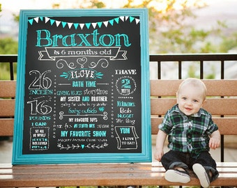 11x14 template etsy for 6 month birthday decorations