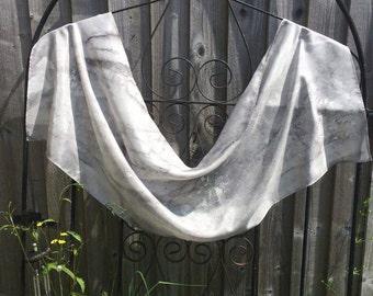 Grey Silk Scarf