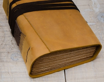 Rustic Leather Journal, Handbound Journal, Leather Diary, Notebook