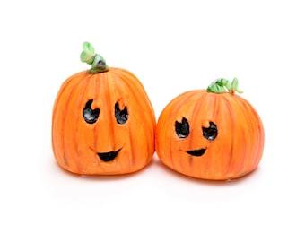 Fondant Cake Topper Pumpkins / Jack-o'-lanterns