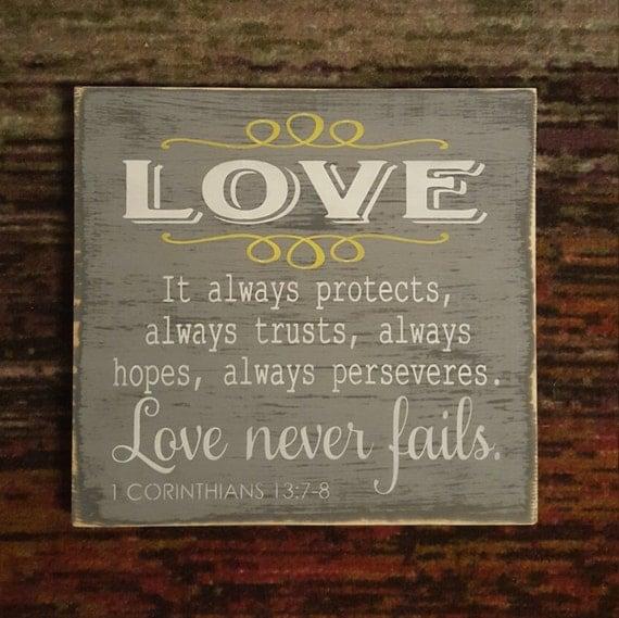 1 Corinthians 13 Wedding Reading: Love It Always Protects Always Trust Always Hope Always