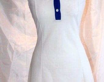Classic 60s Tennis dress (BLUE/WHITE)