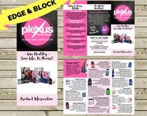 PLEXUS Product Information Brochure - PRINTED or DIGITAL - Chalkboard Design - Plexus Swag - Customized Brochure - Ambassador Marketing