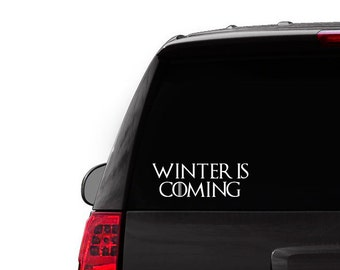 Game of Thrones Car Decal Sticker Winter is coming TShirt - Winter is coming