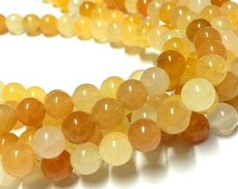 6mm Aragonite Gemstone Beads - 15.5inch Full strand - Round Gemstone Beads