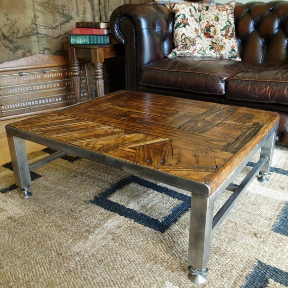 Industrial Coffee Table Bespoke Vintage Design Hand Crafted