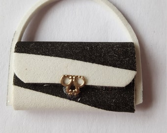 handmade 12th scale dolls house miniature handbag