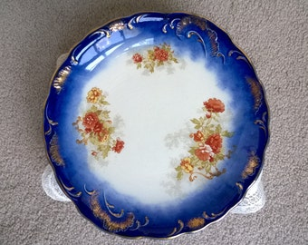 Flo Blue Polychrome Wood & Son Royal Semi-Porcelain Plate