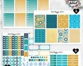 Vertical hebdomadaire planificateur Kit autocollants - Marine or Paisley | Boîtes, MDN, icônes | Pour une utilisation avec Erin Condren Life Planner™ (EC-006)