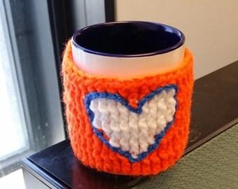 Orange White andBlue Coffee Mug Hugger