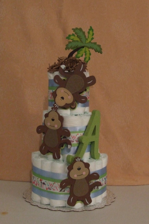 3 tier diaper cake abc 39 s fisher price alphabet monogramed