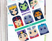 Fairytale Villains Full Box Planner Stickers - For use with Erin Condren Vertical Lifeplanner // J14