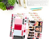 Can You Keep A Secret? Large Kit - Matte or Glossy Erin Condren Planner Stickers - Pink Red Steel Gray Blue Black PLL Liars