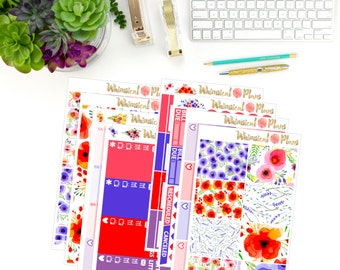 Wildflower Fields Large No White Space Kit -  200+ Planner Stickers