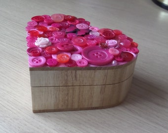 Decorated heart shaped box