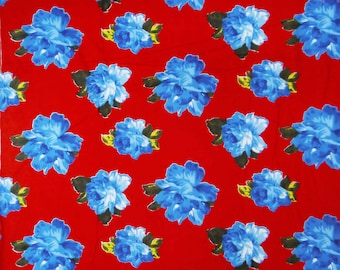 Indian Pure Cotton Red Floral Fabric Designer Sew Craft Fabric Decorative Fabric For Sewing Dressmaking Material Fabric By 1 Yard ZBC5082