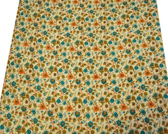 "Pure Indian Cotton Fabric 41"" Wide With Floral Pattern Printed Fabric Crafting Dress Making Sewing Material Fabric By 1 Yard ZBC4868"