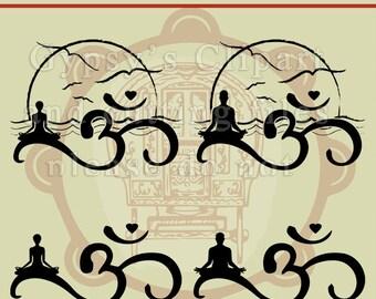 Yoga svg, Meditation svg, Om, Om Symbol, Meditation,Wave, Yoga T Shirt,  Ocean, Sunset, Silhouette, Cut File, ai,eps, png, dxf, svg