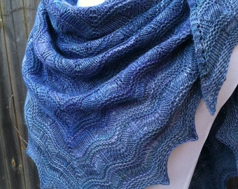Super soft textured lace shawl, Ocean waves shawl, SHIPS FREE!