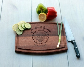 Personalized Cutting Board, Custom Cutting Board, Engrave Cutting Board, Monogramme Cutting Board, Custom Wedding Gift --CBA-MAH-AMBERJOSEPH