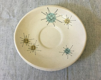 Vintage Franciscan Starburst Saucer, Mid Century Dishes