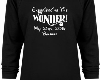 Disney Cruise Inspired Experience The Wonder Bahamas Vacation sweatshirt