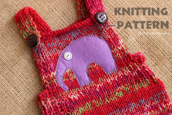 Baby romper KNITTING PATTERN Knitting baby overall by ...