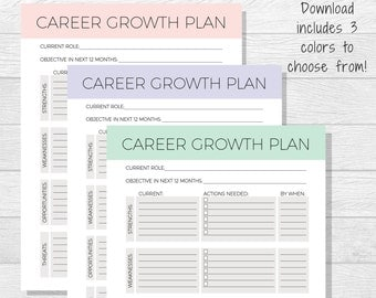 Personal growth plan printable personal development goal business goals printable goal setting work goals self improvement professional goals pronofoot35fo Choice Image
